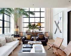 A stylish and trendy apartment overlooking Manhattan