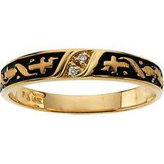 Watches, Parts & Accessories Bright Anello Donna Oro 333 Rosso Pietra Mit 2 Piccolo Lavoro Di Oreficeria Anni 50 Year-End Bargain Sale