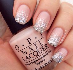 Pink & silver glitter
