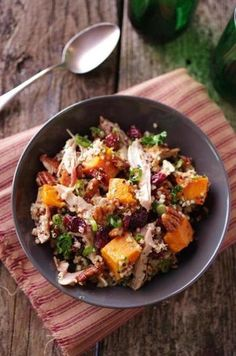 Trying to mix up how you eat your leftovers? Try this delicious quinoa and turkey salad. For more grain-filled recipes, health tips, and interesting articles: http://www.grainsforyourbrain.org/?utm_source=pinterest&utm_medium=social&utm_campaign=gffpins13