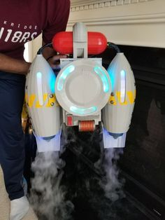 Dry Ice Fortnite Jetpack: 15 Steps (with Pictures) Birthday Party Games For Kids, 10th Birthday Parties, Epic Cosplay, Cosplay Diy, Dope Rooms, Gaming Room Setup, Gaming Rooms, Game Room Lighting, Cool Nerf Guns