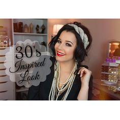 Inspired Makeup Look♡ 1930s Makeup, Art Deco Clothing, Age Of Adaline, Brunette Makeup, What Makes You Beautiful, Makeup Studio, Blake Lively, Makeup Inspiration, My Idol