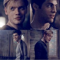 I love this parabatai scene ♡ Jace and Alec. Shadowhunters 2x11