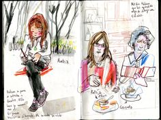 Urban Sketchers: 4 Days in Lisbon - The poetry is in the street.    Inma Serrano