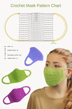 😍 Today I am going to show you how to crochet a super easy crochet mask that you can actually wear outside, it has a lining and also elastic straps to make the wear super comfortable. Crochet Cord, Crochet Mask, Crochet Faces, Easy Crochet, Free Crochet, Crochet Owls, Ravelry Crochet, Beginner Crochet, Crochet Blouse