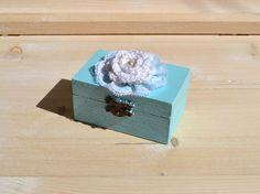 Wedding Ring Box, Engagement Ring Box, Holder Pillow Bearer Box,Cottage chic Wedding Ring Box
