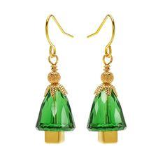 Tutorial - How to: Golden Season Christmas Tree Earrings | Beadaholique