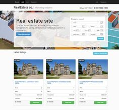 Real estate responsive Bootstrap by Bootstraptor on @creativemarket