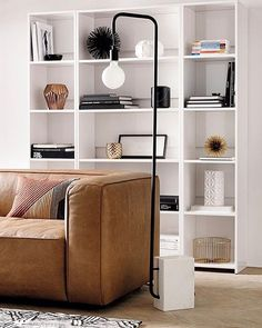 Getaway Bookcase Wide Lenyx Sofa Leather Pata Fd 18x12 Pillow Plait Rug 5x8 Getaway Bookcase Narrow Marble Floor Lamp New  interiorstyle possibly our most versatile bookcase ever. tap link in bio to shop Getaway Bookcase — #interiorstyle