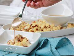 Crispy Roasted Cauliflower with Tahini Dressing
