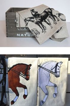 Horse tea towels are the perfect home accent.