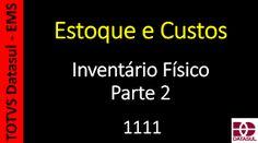 Totvs - Datasul - Treinamento Online (Gratuito): 1111 - Estoque - Inventário Físico Parte 2