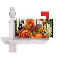 Switch up your outdoor decor for the season with this eye-catching mailbox cover, featuring a harvest-inspired design.Product: Ma...