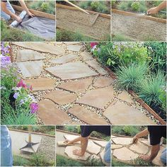 How to Install DIY Flagstone Path #DIY #garden