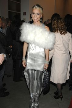 Daphne Guinness - love the silver!  B