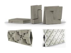 Flat-Pack Building Blocks of the Future Concrete Forms, Concrete Projects, Concrete Blocks, Concrete Furniture, Eco Design, Modular Design, Design Ideas, Cement Design, Wall Design