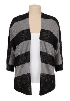 Striped Open Front Dolman Cardiwrap (original price, $34) available at #Maurices