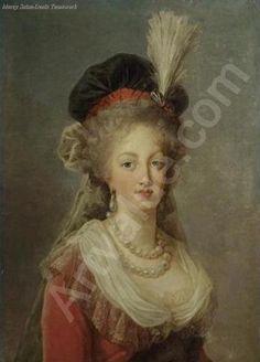 Marie-Antoinette by Elizabeth Vigee-Lebrun.