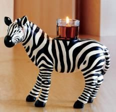 Zebra Votive Holder
