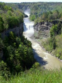 "A little over an hour away from Buffalo, called the ""Grand Canyon of the East"" and featuring a series of waterfalls and an extensive amount of hiking trails"