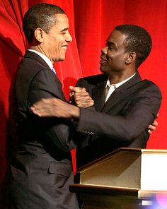 Chris Rock with The President
