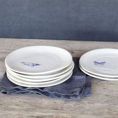 Pretty Flying Things Dessert Plates by Elsie Green
