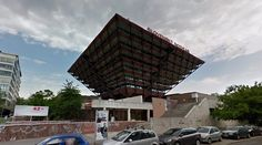Budova Slovenského rozhlasu (Slovak Radio Building) - 1967-83 by Š.Svetko, Š.Ďurkovič & B.Kissling - #architecture #googlestreetview #googlemaps #googlestreet #slovakia #bratislava #brutalism #modernism