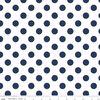 Medium Dots in Navy on White