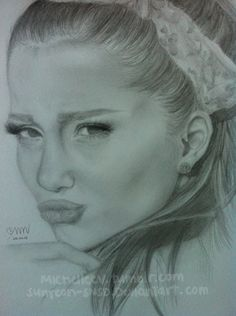 Ariana Grande Drawing (WIP) by sunyeon-snsd on DeviantArt