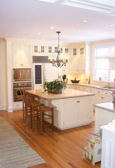 P.M. Services - Butter Cream Painted Kitchen