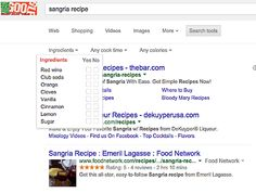 google-recipes-sangria Mix cocktails with Google s new search feature