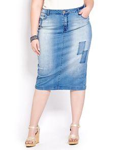 Six Plus Size Denim Skirt Options