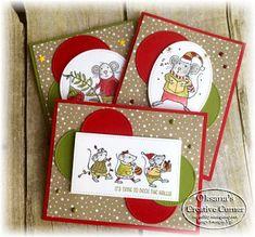 Christmas Team Stamp It Blog Hop FunStamper.com    Stampin Up; Merry Mice stamp set