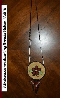 Athabascan beadwork by Brenda Mahan, necklace, 1/2016