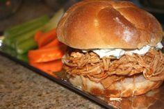 Crockpot Pulled Buffalo Chicken