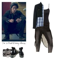 Jughead Jones - Riverdale by shadyannon on Polyvore featuring polyvore fashion style H&M 6397 Blackyoto OneTeaspoon Converse clothing