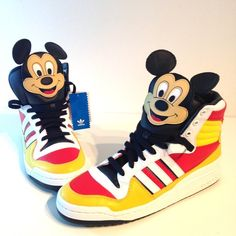 NWT Limited Ed. Jeremy Scott x Adidas Sneakers -11 New in Box! Collectors Item! - A Sneaker Lover Mickey Lovers Dream! - Incredible Authentic Jeremy Scott x Mickey Mouse for Adidas Originals - Men's Sz 9 Women's Sz 11 ✨No Trades No PayPal Reasonable offers considered ✨ Adidas Shoes Sneakers