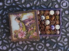 Miniature Box of Chocolates Purple Butterfly by TheSweetBaker, $13.50