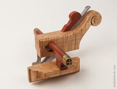 Near Mint! R.M. SOULE Tiger Maple and Mahogany Carriagemaker's Plow Plane