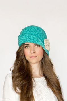 Charleston cloche hat #crochet pattern for sale from Hopeful Honey