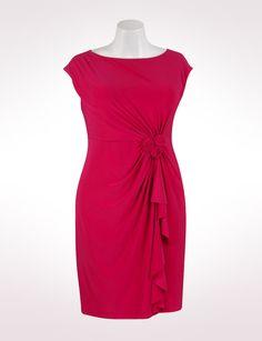 Rosette Side Drape Dress  $59.99