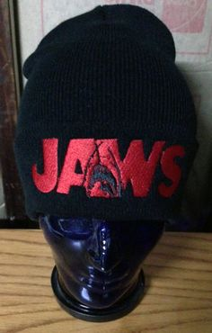 7f374a19f7f Jaws beanie sharks 70 s horror on Etsy