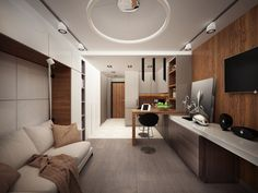 3 Stylish and Organize Awesome Studio Apartment Designs Which Very Suitable For Young Couple