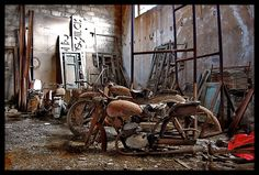 Abandoned Building. Old workshop left to decay and rust.