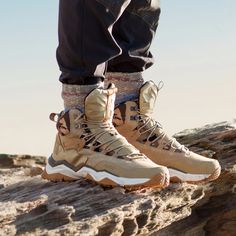 new styles a3394 644d2 RAX Men Hiking Shoes Mid-top Waterproof Outdoor Sneaker Men Leather Trekking  Boots Trail Camping
