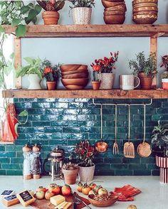 Bohemian kitchen decor custom textiles loom to home o photos and videos . Cuisines Design, Küchen Design, Design Ideas, Design Trends, Design Blogs, Tile Design, Design Elements, Design Inspiration, New Kitchen