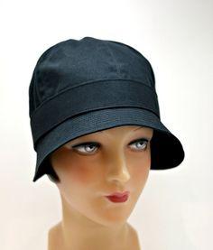 Cloche Rain Hat Waxed Canvas Rain Hat by HatsWithAPast on Etsy e8aa878652b
