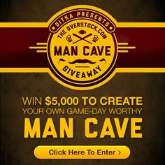 Coach Ditka Presents the Overstock.com Man Cave Giveaway! Enter to win $5000 in Overstock.com gift cards so you can create your own game-day worthy Man Cave! #sweepstakes #giveaway