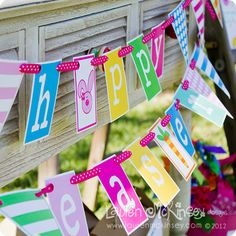 happy easter and happy spring banner in three sizes.  small, medium and large.