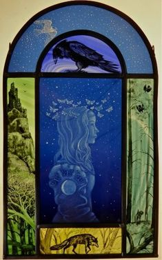 The Best Window Design With Pictorial Glass 18 Modern Stained Glass, Stained Glass Paint, Stained Glass Panels, Leaded Glass, Mosaic Glass, Glass Art, Window Glass, Fused Glass, Window Design